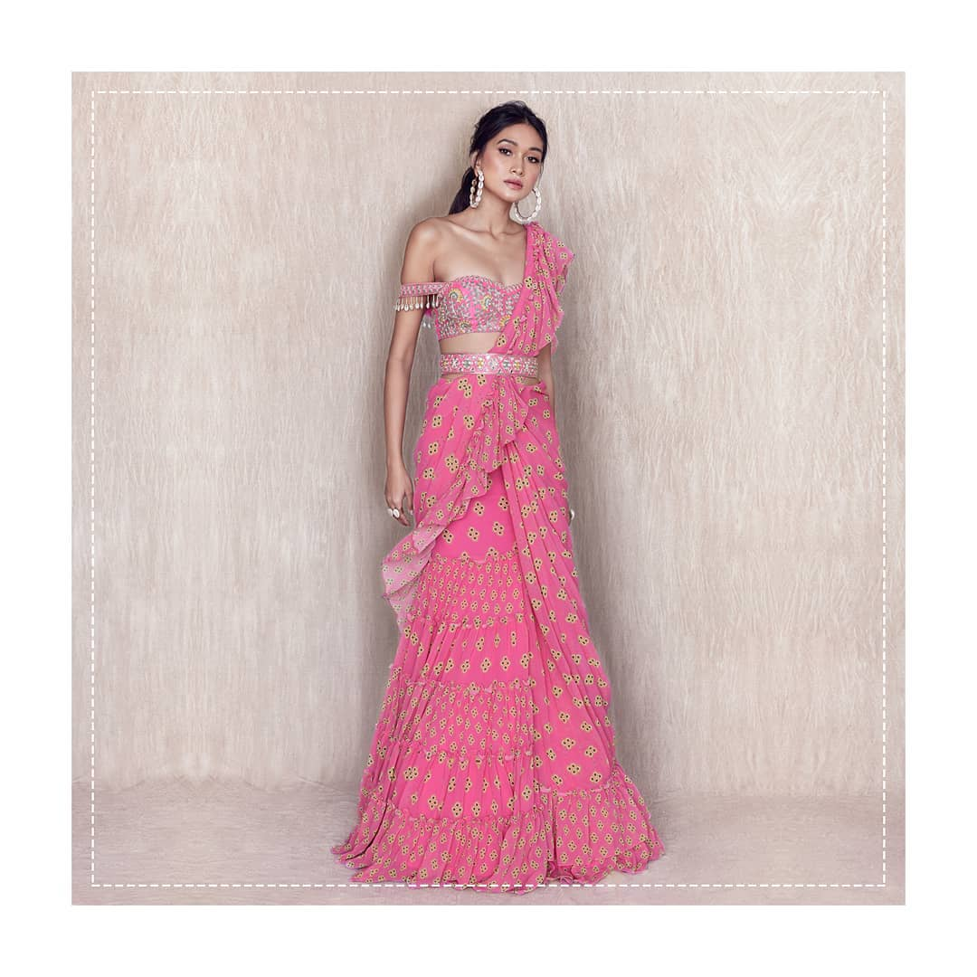 ruffle saree by arpita